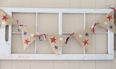 4th of July Burlap Bunting by Sophiescottage8 on Etsy, $18.00