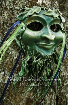 Masks Pagan Art- Masks Inspired by Nature & Myth by Spiral Dancer Creations, via Behance  Sculpture Green Art http://www.tasharyne-ramsay.com