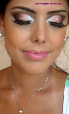 Smokey Peach Eye Makeup