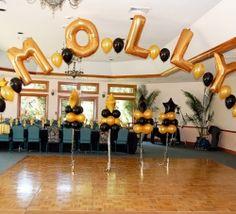 Sweet 16 on pinterest balloon columns balloon arch and for Anchor balloon decoration