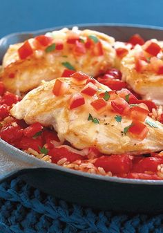 Bruschetta Chicken Skillet -- It's bruschetta. It's chicken. It's skillet-simple. Sounds like it's everything you could ask for in an easy recipe. Oh wait--there's one more thing: You use just one pan.