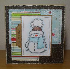 christma card, card inspir, card christma, penni black, black stamp