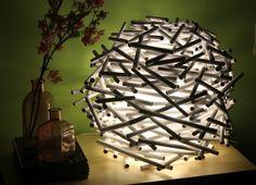 A Bird's Nest Lamp Shade  - #diy, #lamp