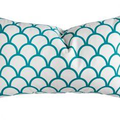 Caitlin Wilson Textiles: Peacock Scallop Pillow