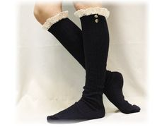 Lace boot socks womens boot socks boot by CatherineColeStudio