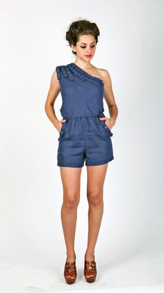 One Shoulder Short Romper~~sexy