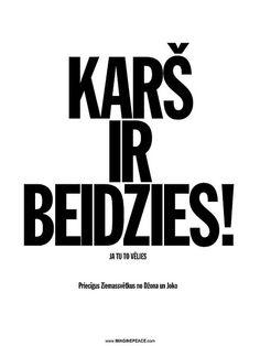 WAR IS OVER! - Latvian