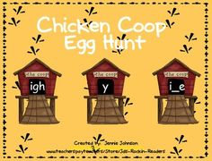 Help the chickens find their eggs!! This activity is a long i word sort. It has students working with words with the vowel patterns of igh, y, and ...