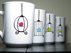 cute painted mugs