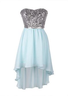 Soo pretty! Sequins and a breezy ocean blue