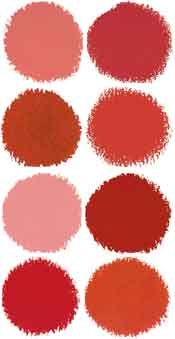 Red Paint Swatches