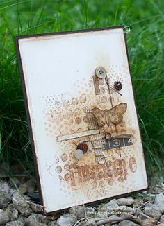 butterfli, stamp, vintage journal cards, media card