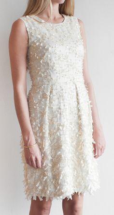 Lela Rose Cream Organza dress//