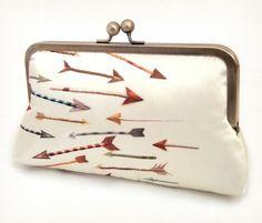 Arrows - A Red Ruby Rose original silk clutch bag {etsy}