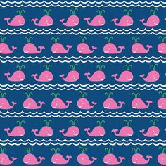Rowing in Pink by Ana Davis for Blend Fabrics  1/2 by Owlanddrum, $5.25