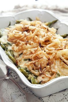 This green bean casserole would be perfect with Cara Mia artichokes!