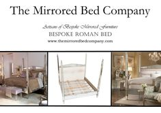 The Classical ROMAN MIRRORED BEDS from The Mirrored Bed Company. Beds built around your dreams... contact us now to help us make yours!