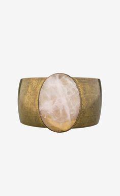 brass + rose quartz cuff