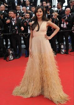 Freida Pinto in Michael Kors at Cannes 2014