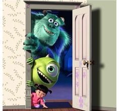 Best movies ever and these are my all time favorite characters from monster inc.  Boo  Sully  Mike