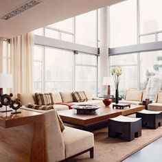 Two walls of windows in this elevated space- nice!