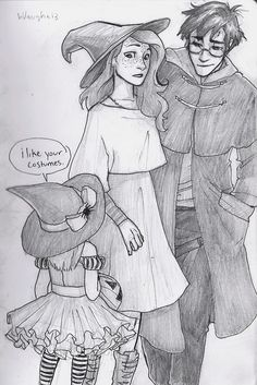 Harry and Ginny unwittingly find themselves in muggle London a bit too close to Halloween