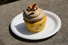 """""""Piggylicious"""" Bacon Cupcake with Maple Frosting and Pretzel Crunch featuring Nueske's Applewood Smoked Bacon from The Smokehouse: Barbecue and Brews  The 2014 Epcot International Flower & Garden Festival http://www.wdwinfo.com/wdwinfo/guides/epcot/events/ep-flower-garden.htm"""