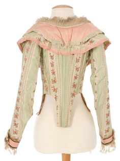 Imatex Jacket, 1790s?, close up of trims (click through) and construction