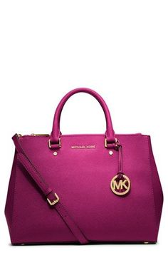 MICHAEL Michael Kors 'Large Sutton' Saffiano Leather Satchel available at #Nordstrom