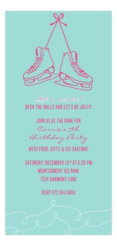 Grab Your Skates Invitation