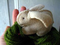 April 14, 2014 - Handsewn felt bunny