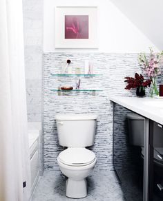 organized small bathrooms