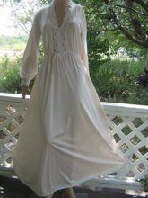 pinkish ivory vintage olga cuddle top ~ flannel bodice, silky nylon skirt @vintagepretties