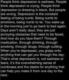 depress, feel, life, mental health, sad, thought, true, people, quot