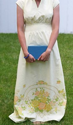 DIY: maxi dress from a vintage sheet