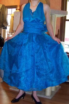 Another handmade prom dress from a Simplicity Retro pattern--halter style.