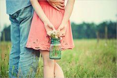 Love the mason jar with dandelions! {Cheryl Joy Miner Photography}