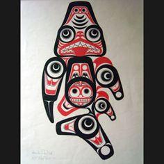 1973 Bill Reid Haida Art Dogfish (Shark) Print