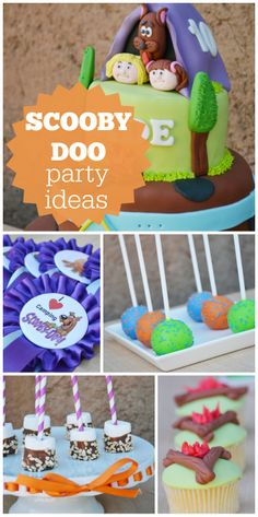 Scooby Doo is the star of this girl birthday camping party with an amazing cake!  See more party ideas at CatchMyParty.com!