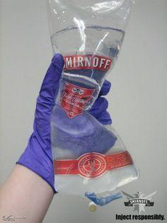 IV vodka for nursing students only.