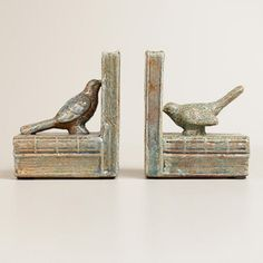 One of my favorite discoveries at WorldMarket.com: Bird Ceramic Bookends, Set of 2