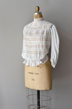 edwardian blouse | 1910s IN THE GLADES cotton lace blouse