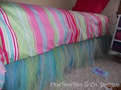Tulle bed skirt. If my girls were still little.