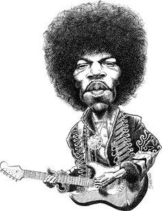 Jimi Hendrix. I liked this caricature.