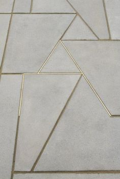 Concrete & gold | love!!