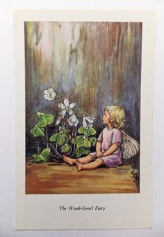Flower Fairies Picture Wood Sorrel Fairy by PeonyandThistlePaper, £4.50