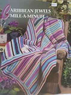 Caribbean Jewels MileAMinute Afghan  Annie's by CarolsCreations77, $1.50
