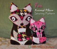 anim pillow, animals, pillow patterns, animal design pillows, ador fox, pillow sew, pillow pets, fox pillow, sewing patterns
