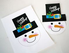 snowman treat topper printable