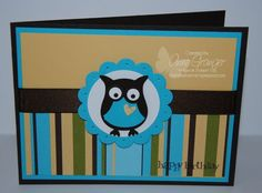 Stampin Up Owl Builder Punch card. nice and simple!